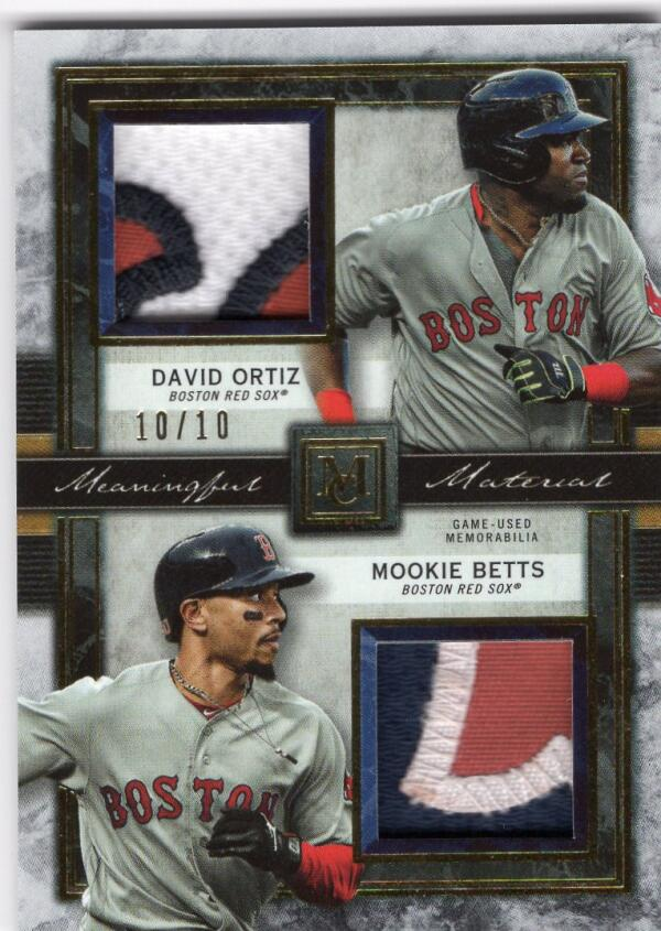 2020 Topps Museum Dual Meaningful Materials Relics Ruby