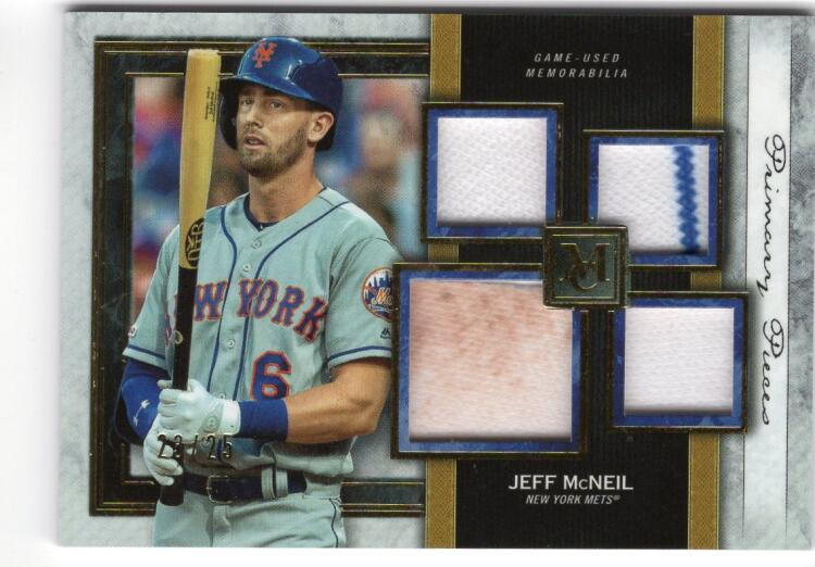 2020 Topps Museum Single-Player Primary Pieces Quad Relics Gold