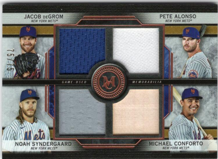 2020 Topps Museum Four-Player Primary Pieces Quad Relics
