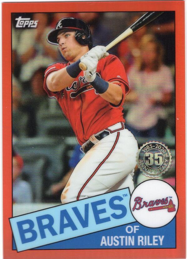 2020 Topps Chrome 1985 Baseball Refractors Orange