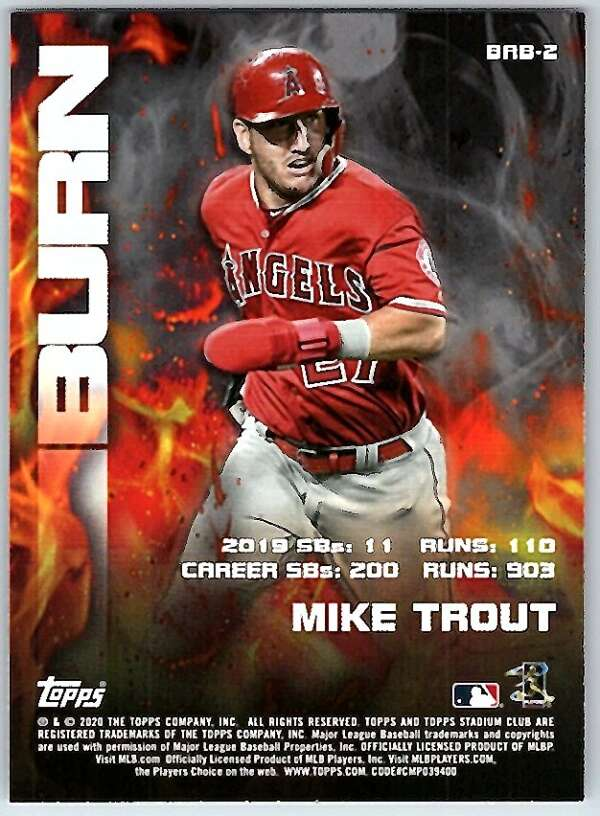 Victor Robles 2020 Topps Stadium Club Bash and Burn Sub Set Baseball Card Washington Nationals Star Player