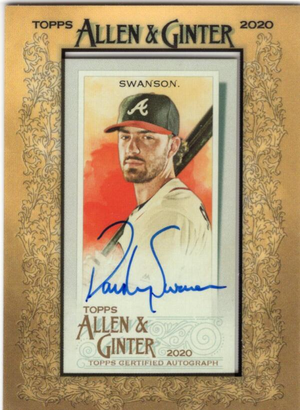 2020 Allen and Ginter  Framed Mini Autographs