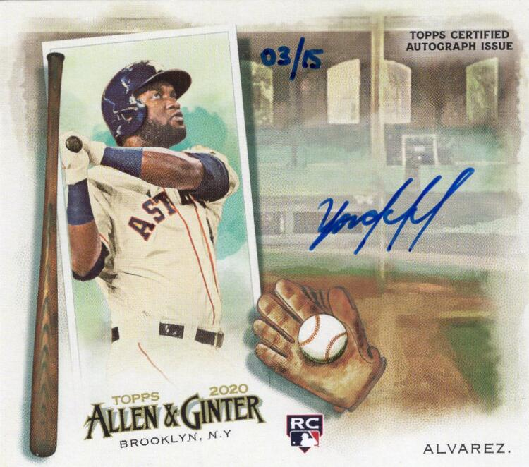2020 Allen and Ginter  N43 Boxloaders Autographs
