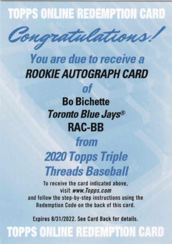 2020 Topps Triple Threads Rookie Autographs