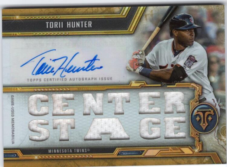 2020 Topps Triple Threads Autographed Relics Gold