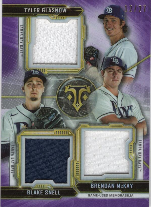 2020 Topps Triple Threads Combo Relics Amethyst