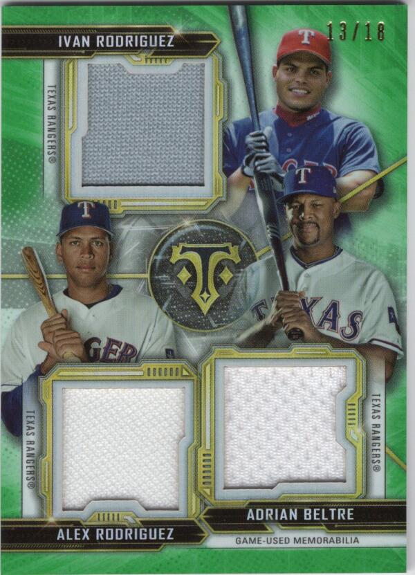 2020 Topps Triple Threads Combo Relics Emerald
