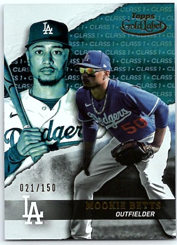2020 Topps Gold Label Class 1 Black
