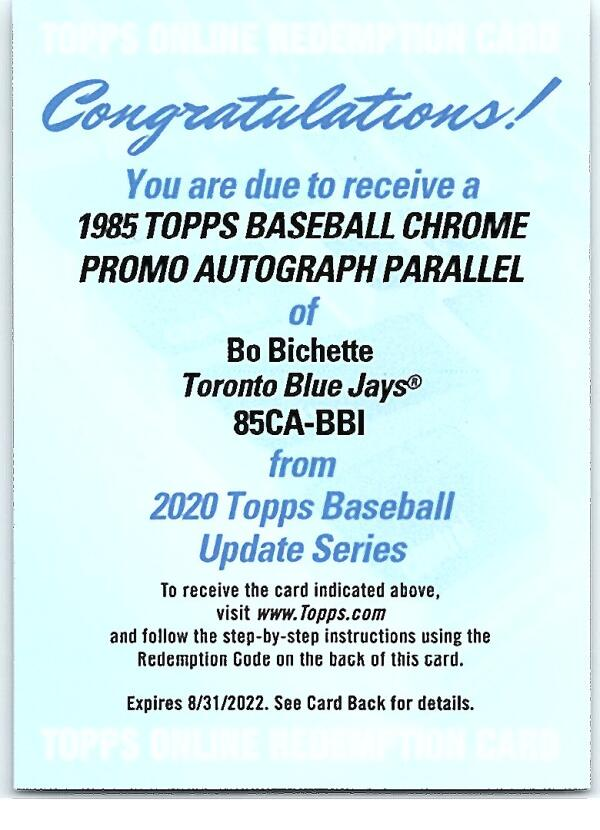 2020 Topps Update Silver Packs Autographed Refractors