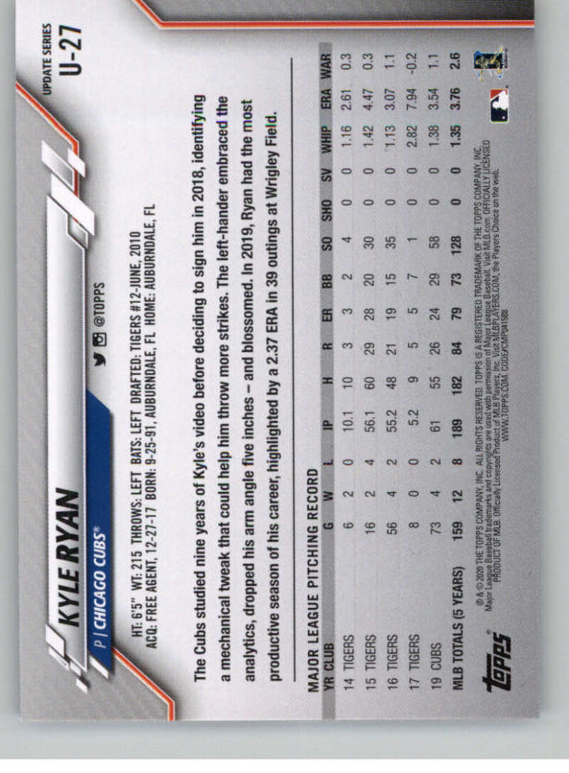 thumbnail 45 - 2020 Topps Update Baseball Singles | NM-MT+ | Complete Your Set | You Pick!
