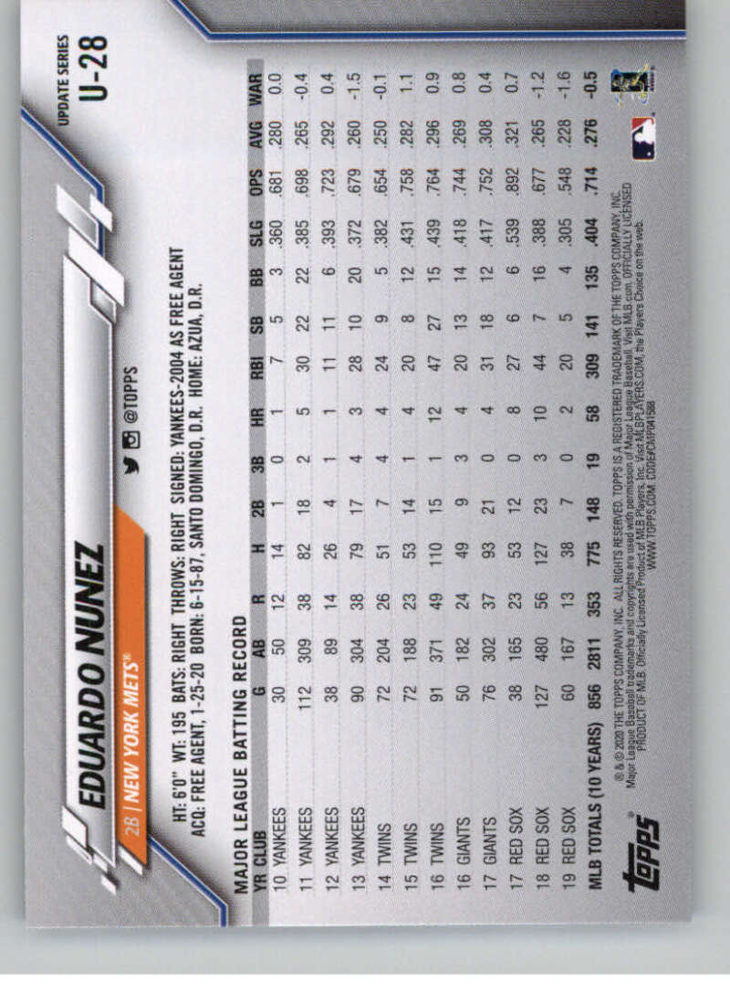 thumbnail 47 - 2020 Topps Update Baseball Singles | NM-MT+ | Complete Your Set | You Pick!
