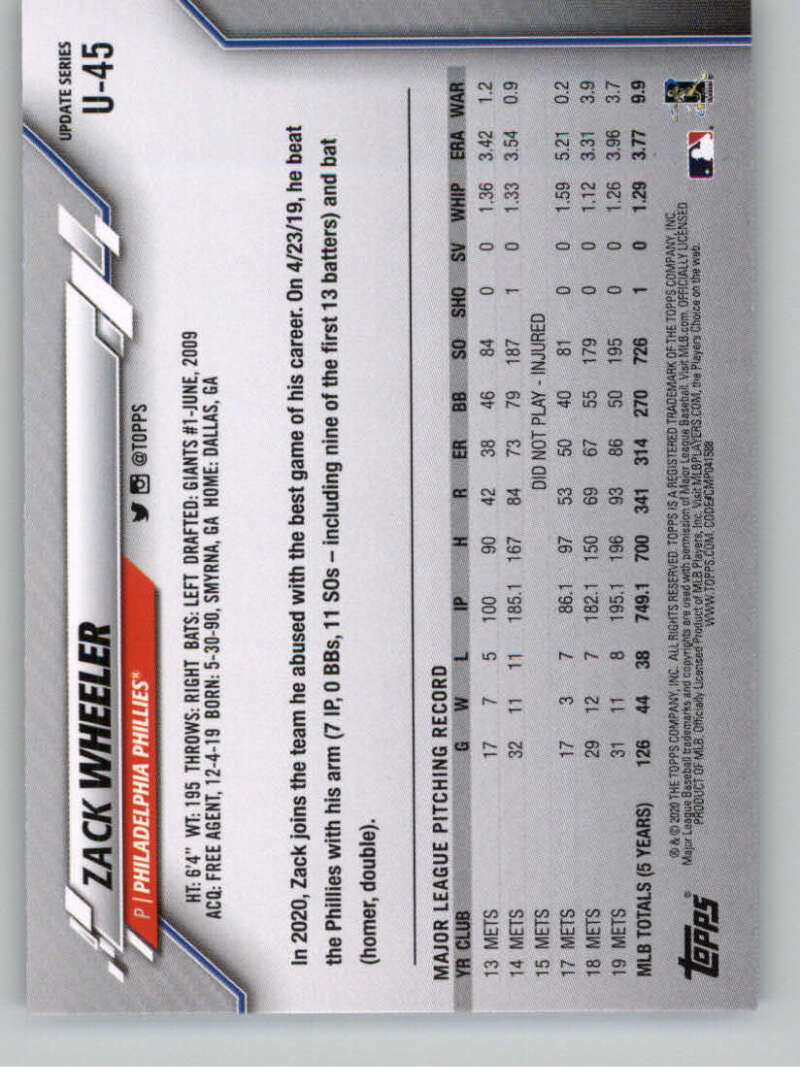 thumbnail 75 - 2020 Topps Update Baseball Singles | NM-MT+ | Complete Your Set | You Pick!