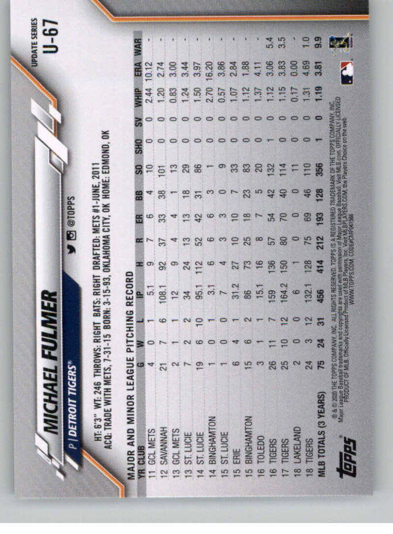 thumbnail 109 - 2020 Topps Update Baseball Singles | NM-MT+ | Complete Your Set | You Pick!