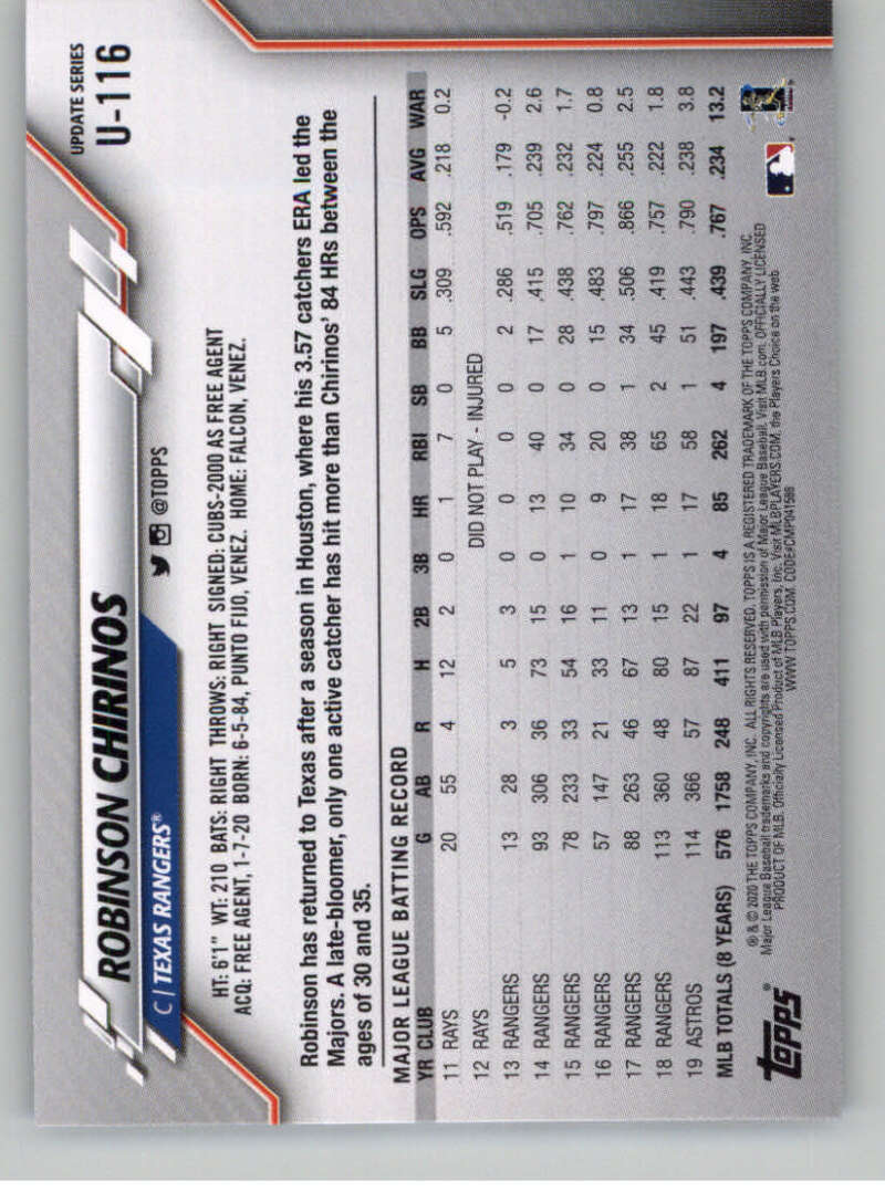 thumbnail 177 - 2020 Topps Update Baseball Singles | NM-MT+ | Complete Your Set | You Pick!