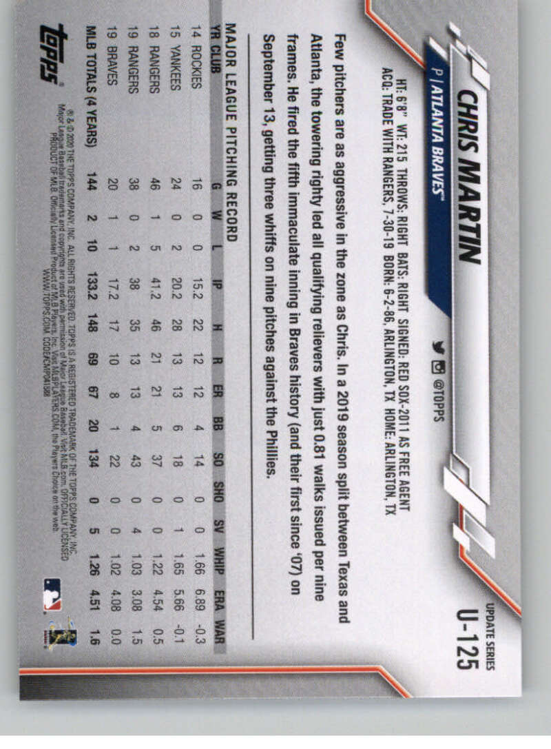 thumbnail 191 - 2020 Topps Update Baseball Singles | NM-MT+ | Complete Your Set | You Pick!