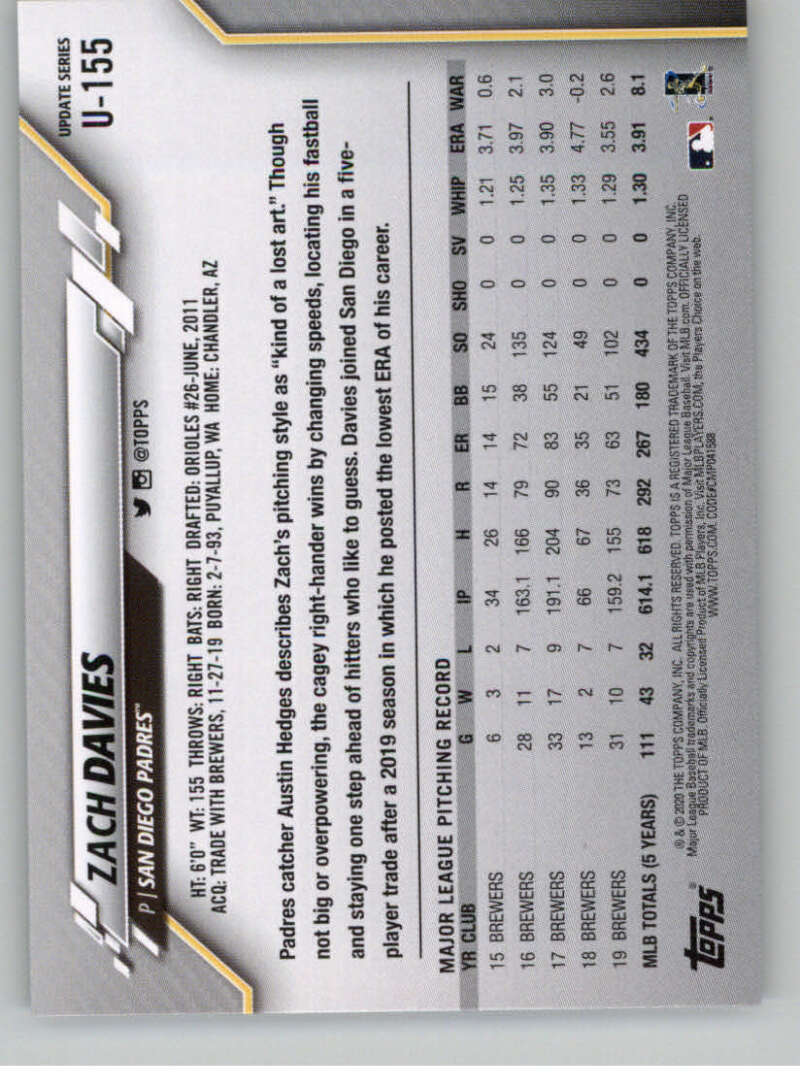 thumbnail 237 - 2020 Topps Update Baseball Singles | NM-MT+ | Complete Your Set | You Pick!
