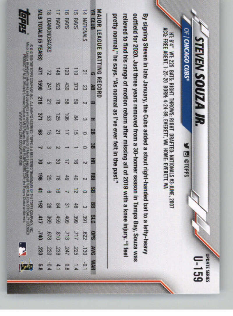 thumbnail 243 - 2020 Topps Update Baseball Singles | NM-MT+ | Complete Your Set | You Pick!