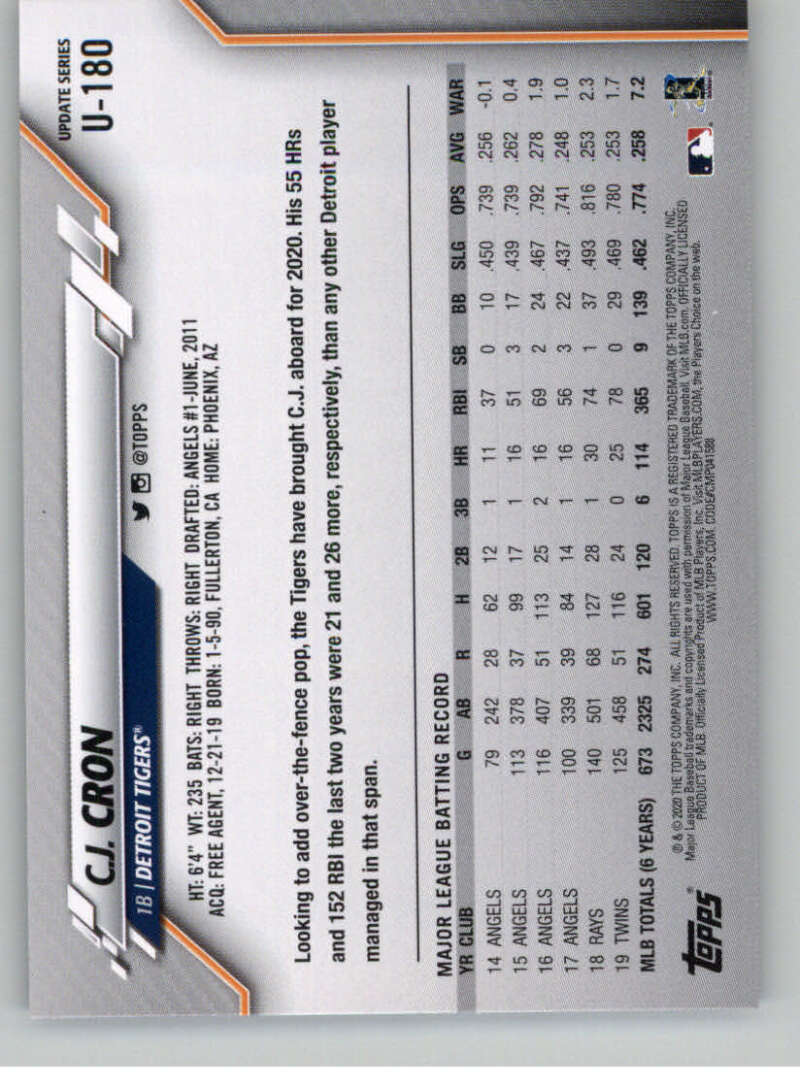 thumbnail 269 - 2020 Topps Update Baseball Singles | NM-MT+ | Complete Your Set | You Pick!