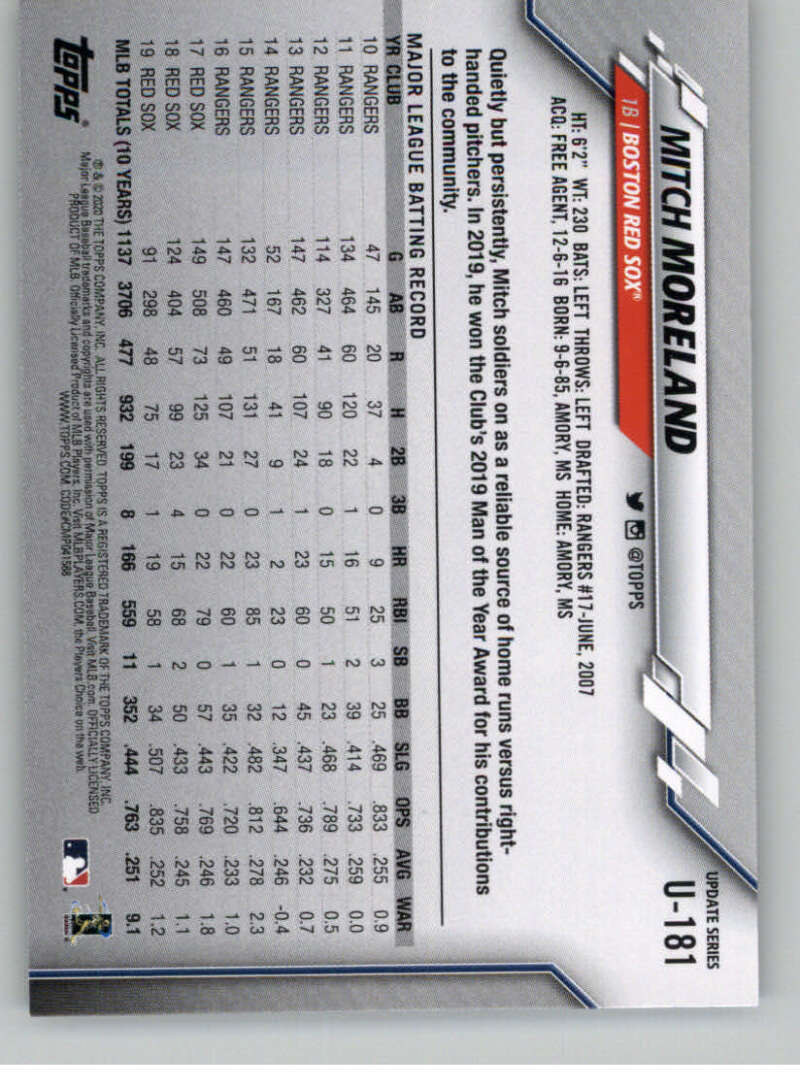 thumbnail 271 - 2020 Topps Update Baseball Singles | NM-MT+ | Complete Your Set | You Pick!