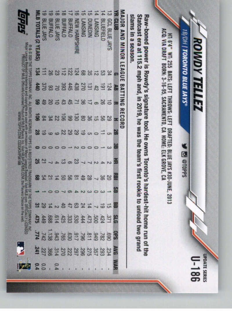 thumbnail 279 - 2020 Topps Update Baseball Singles | NM-MT+ | Complete Your Set | You Pick!