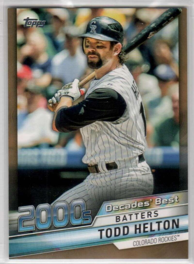 2020 Topps Update Decade's Best Gold