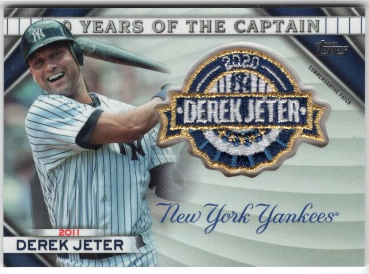 2020 Topps Update 20 Years of The Captain Commemorative Patches