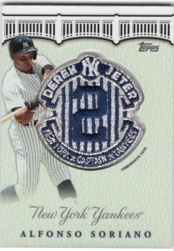 2020 Topps Update Derek Jeter Final Season Commemorative Patches