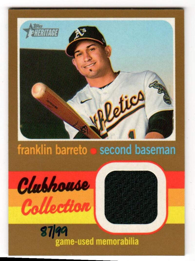 2020 Topps Heritage High Number Clubhouse Collection Relics Gold