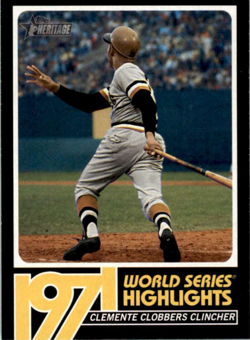 2020 Topps Heritage High Number 1971 World Series Highlights