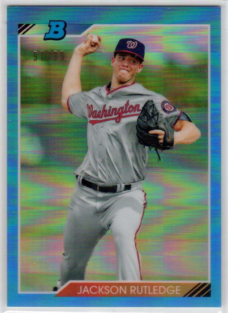 2020 Bowman Heritage Chrome Prospects Refractor Blue