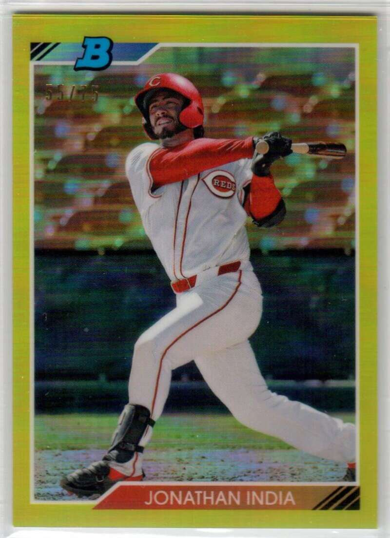 2020 Bowman Heritage Chrome Prospects Refractor Yellow