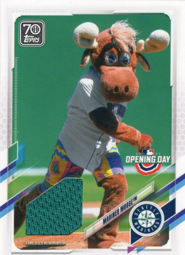 2021 Topps Opening Day Mascot Relics