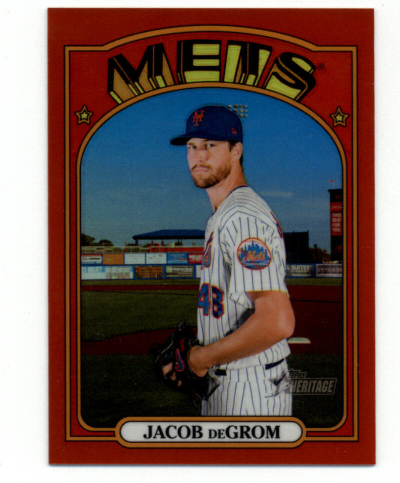 2021 Topps Heritage Chrome Refractor Red
