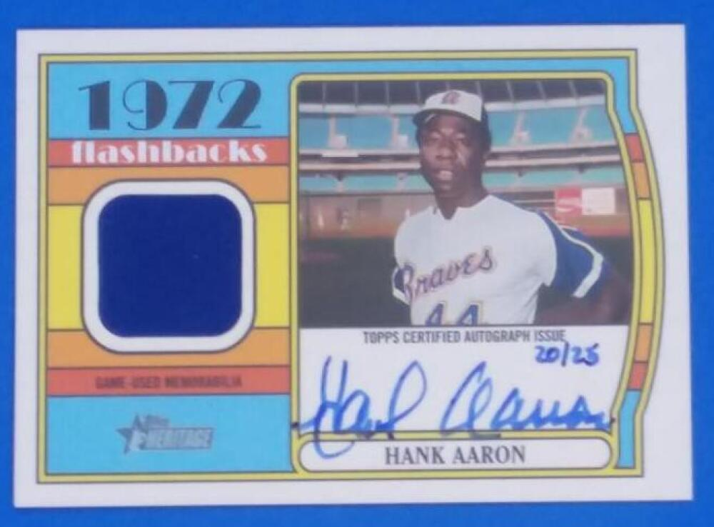 2021 Topps Heritage Flashback Autographed Relics