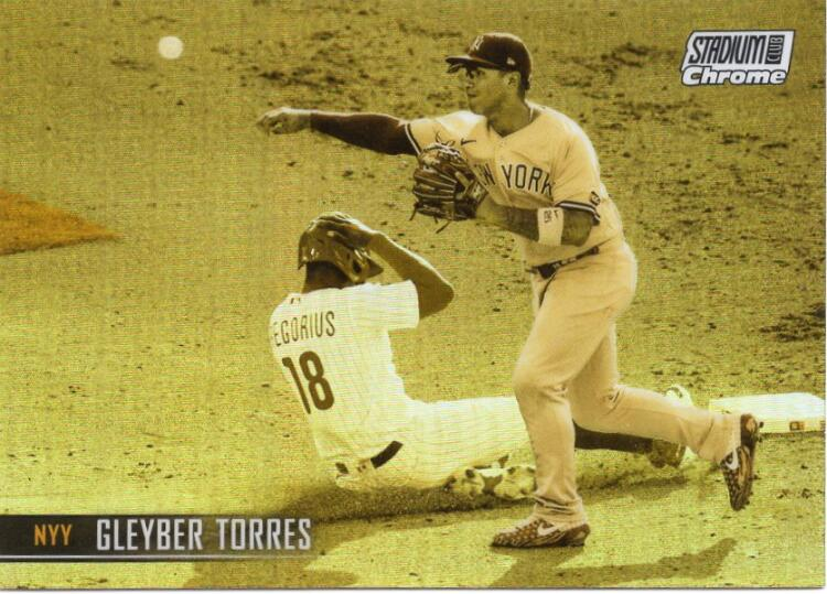 2021 Topps Stadium Club Chrome Refractor Gold Minted