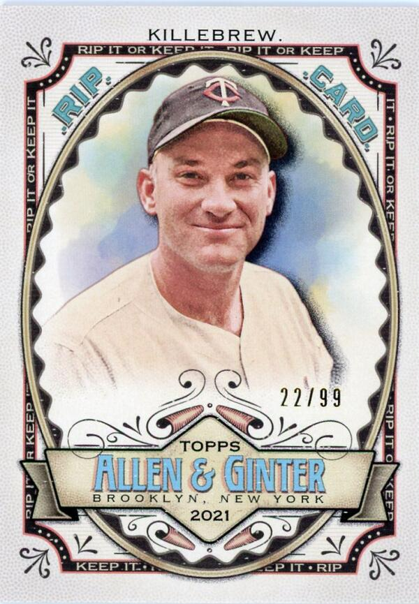 2021 Allen and Ginter  Rip Cards