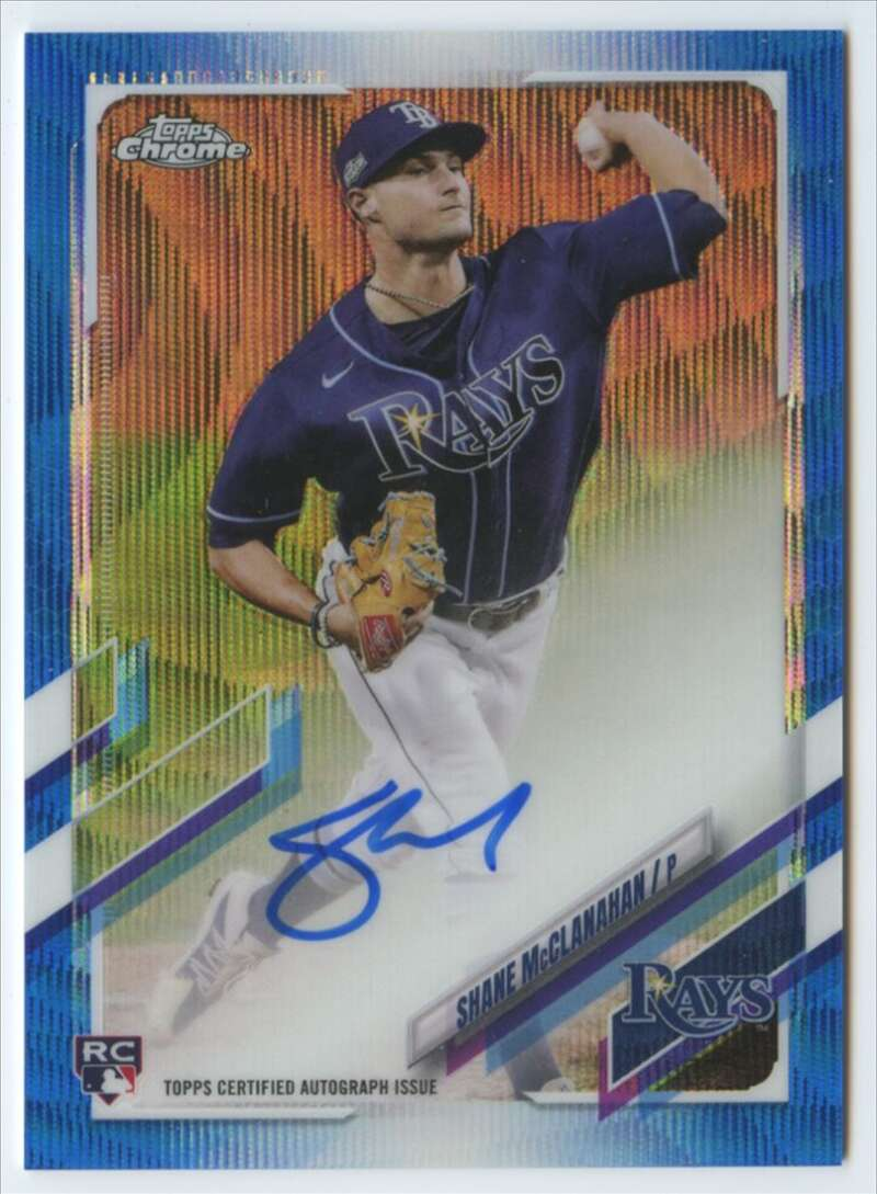 2021 Topps Chrome Rookie Autographs Refractor Blue Wave