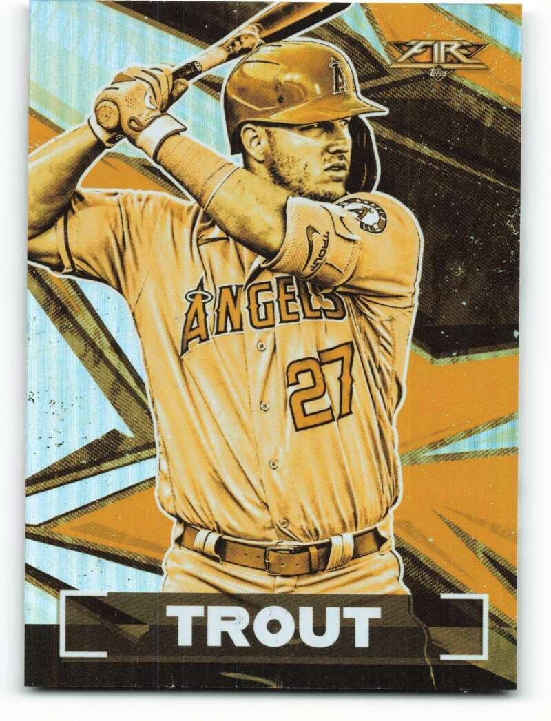 2021 Topps Fire Gold Minted