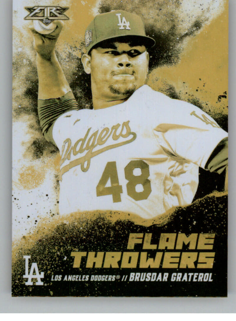 2021 Topps Fire Flame Throwers Gold Mint