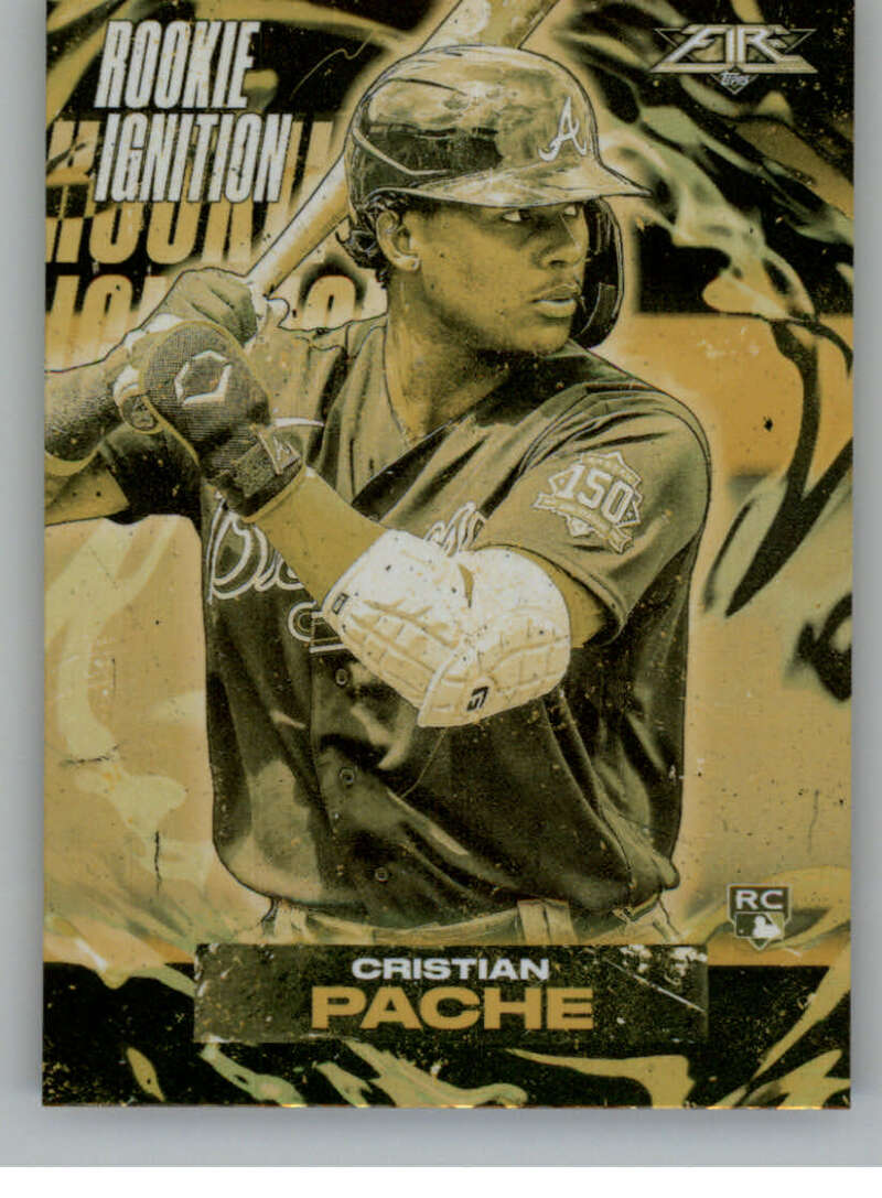 2021 Topps Fire Rookie Ignition Gold Minted
