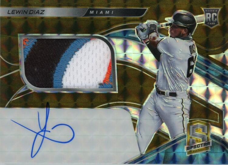 2021 Panini Spectra Rookie Jersey Autographs Gold