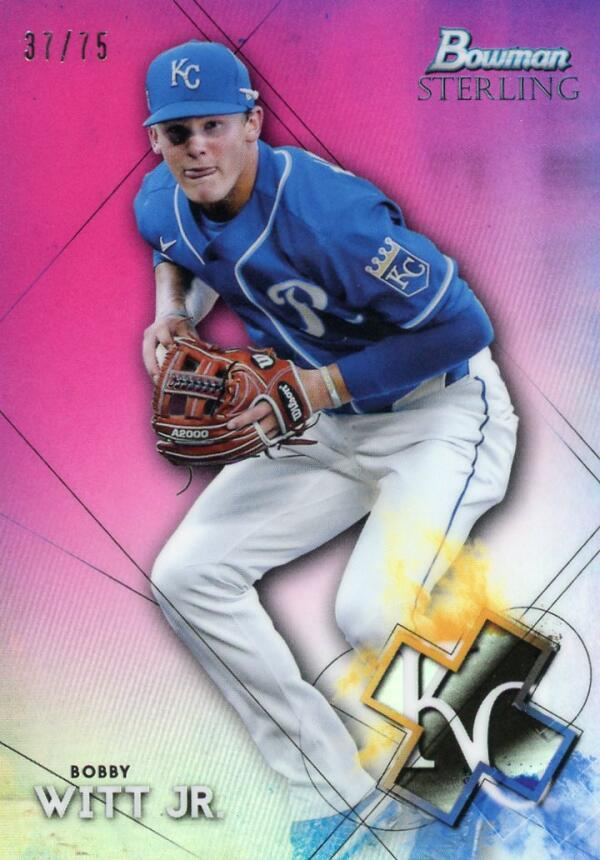 2021 Bowman Sterling Prospects Refractor Magenta