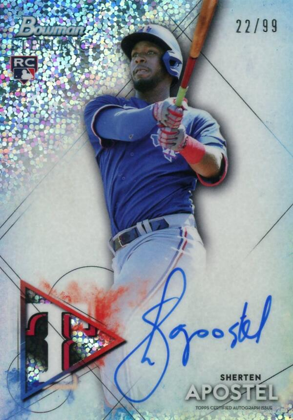 2021 Bowman Sterling Rookie Autographs Refractor Speckle