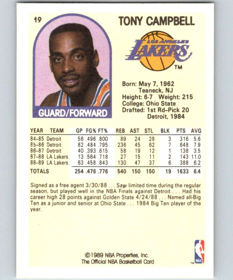 1989-90 NBA Hoops Basketball Cards (Includes Rookies And