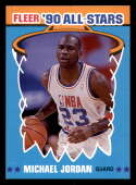 1990-91 Fleer All-Stars Basketball #5 Michael Jordan Chicago Bulls  Official NBA Trading Card