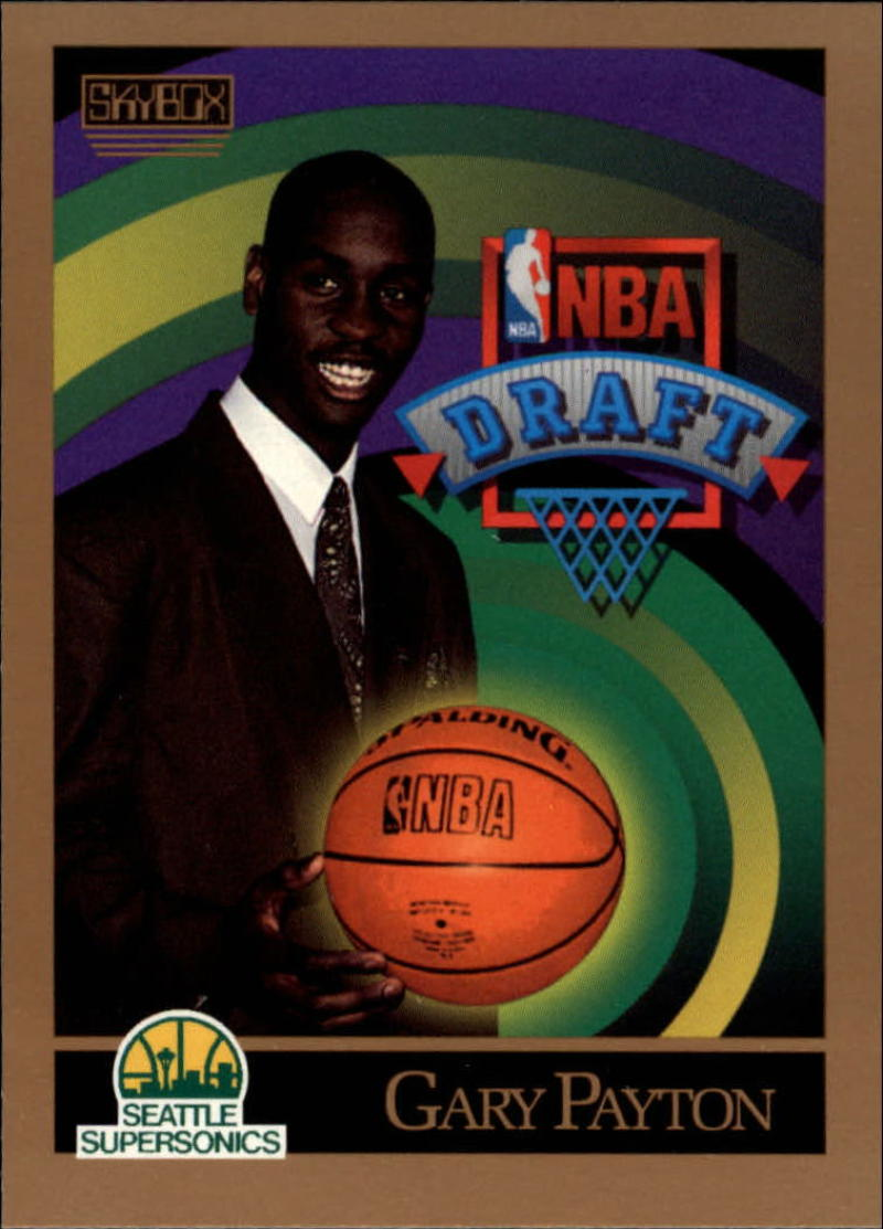 1990-91 SkyBox #365 Gary Payton NM RC Rookie