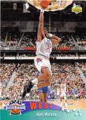 1992-93 Upper Deck Basketball High Series (Text and Logo Hologram) #434 Karl Malone Utah Jazz AS  Official UD NBA Trading Card