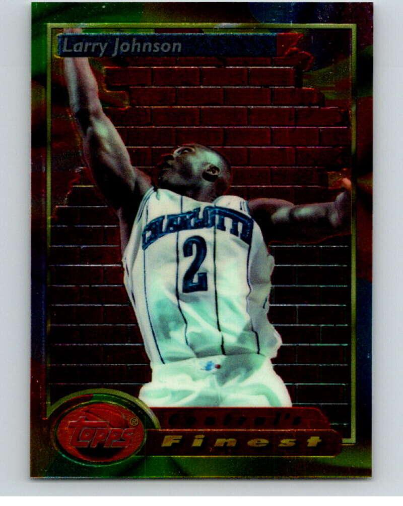1993-94 Topps Finest #109 Larry Johnson CF NM-MT Charlotte Hornets Basketball