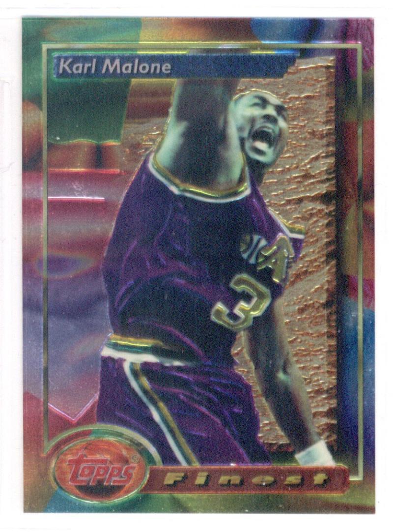 1993-94 Topps Finest #215 Karl Malone NM-MT
