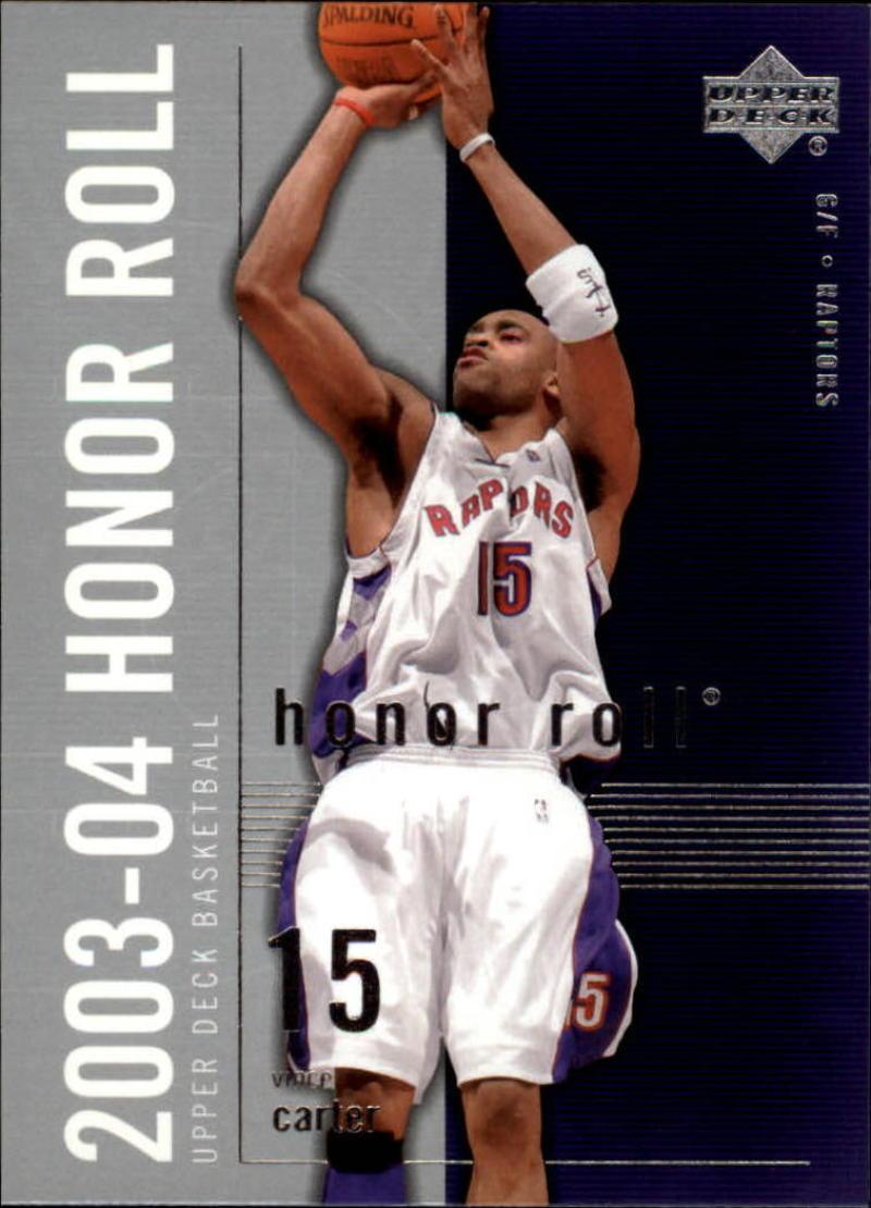 Basketball NBA 2003-04 Honor Roll #83 Vince Carter